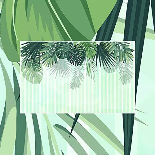 Preisvergleich Produktbild WORINA HD Wandbild Nordic Minimalistischen Grünen Blättern Aquarell Stil Hintergrund Wand Film Tapete Wandbild,  300X210 Cm (118, 1 By 82, 7 In)