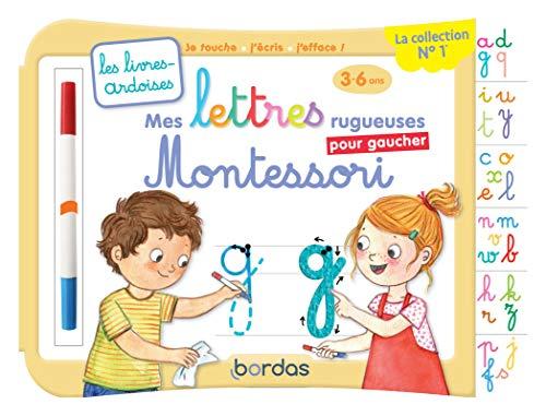 Les livres-ardoises - Mes premières lettres minuscules Montessori pour gaucher - 3 à 6 ans