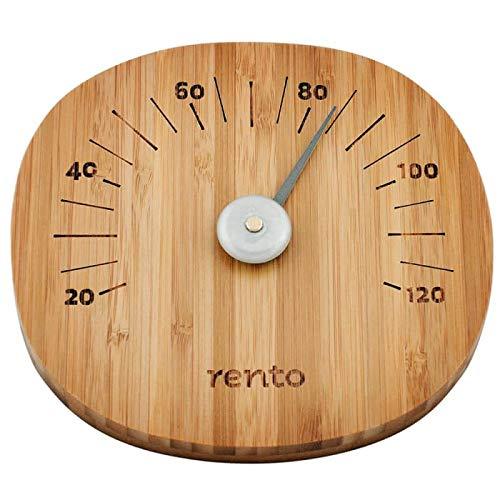 Rento - Bamboo - Thermometer, Saunathermometer - Bambusholz - von 20-120 Grad Celsius
