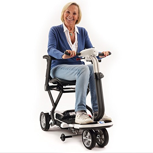 TGA Mobility Minimo Portable Mobility Scooter with Li-Ion Battery Upgrade - White