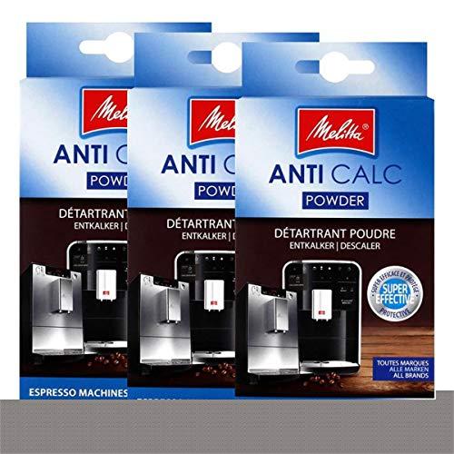 Melitta Pulverentkalker für Kaffee- oder Espressomaschinen (1500804 DE) Packung 3 (2 x 40 g)