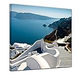 Bilderdepot24 Bild auf Leinwand | Santorini Treppe -