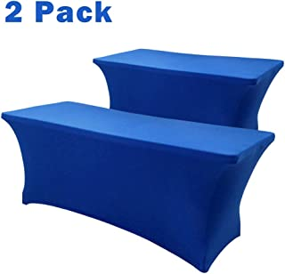 Hipinger 2 Pack Stretch Spandex Table Cover for 6 Ft Rectangle Tables, 72