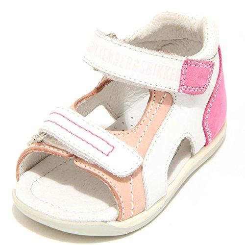 BIKKEMBERGS 5984F Sandalo Plume Nabuk Scarpa Bimba Shoes Kids [21]