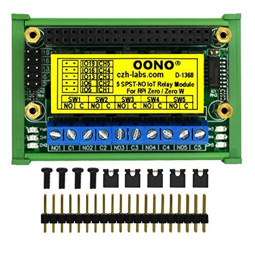 Montaggio su guida DIN 5 SPST-NO RPi IoT, modulo relè per Raspberry Pi Zero/Zero-W