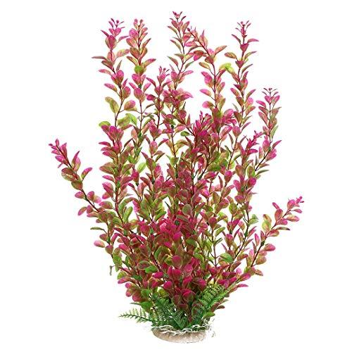 Bocotoer 46cm Rhodo künstliche Pflanzen Aquarium Deko Wasserpflanzen Aquariumpflanzen