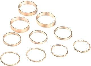SUNFANI 10-14 Pcs Vintage Knuckle Rings for Women Girls Stackable Midi Finger Ring Set