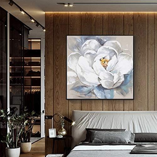 Handgemalte Kunst Blue Butterfly Ölgemälde auf Leinwand Kunst Wandbild Wohnzimmer Wandbild Home Decoration 40x40cm