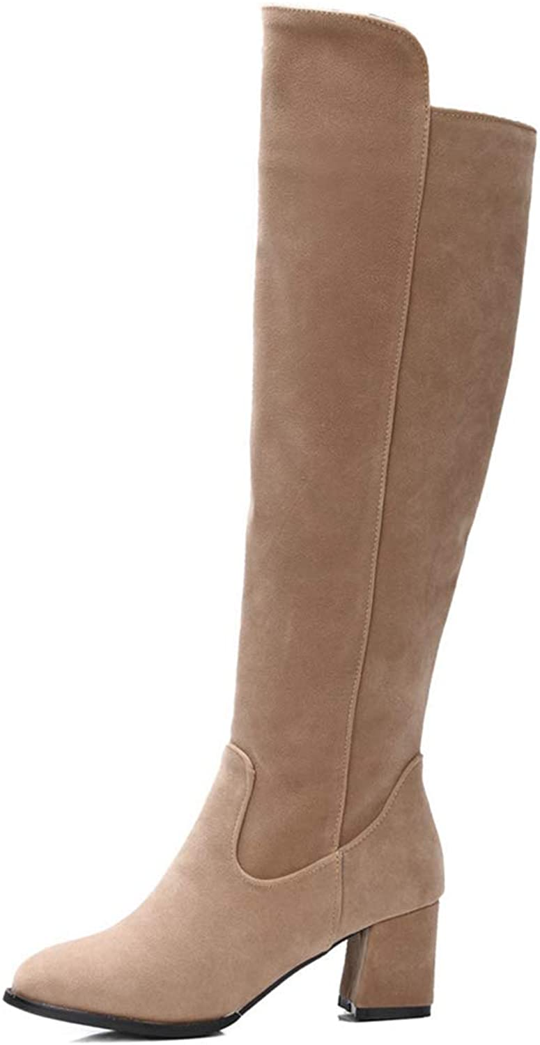 Faux Suede Thigh high Over The Knee Boots Autumn Spring High Heels Boots
