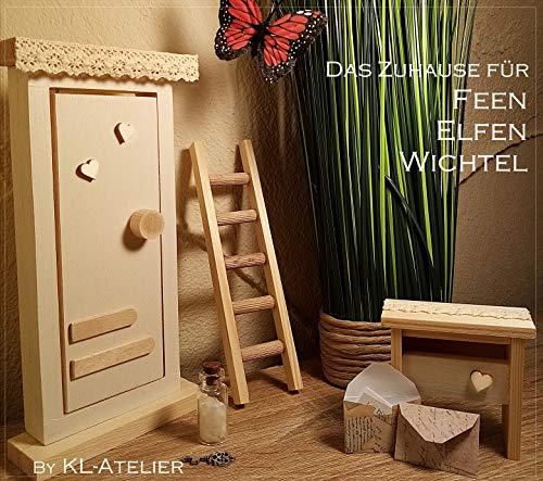 Wichteltür - Set VINTAGE mit Leiter, Wichtel-Briefkasten, Zauberstaub, Schlüssel