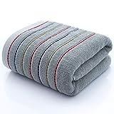IAMZHL Striped Cotton Towel Set Large Thick Bath Towel Bathroom Face Shower Towels Home Hotel For Adults Kids Soft Toalla de Ducha-Grey-3-3pcs Towel Set