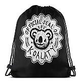 Yuanmeiju Koalaty Shoulder Bolsa con cordón Backpack String Bags School Rucksack Gym Sport Bag Lightweight