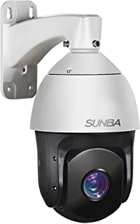 SUNBA 1080p IP PoE+ High Speed Outdoor Pan Tilt Zoom Security Camera, 20x Optical Zoom Starlight PTZ Dome ONVIF with Audio and Night Vision up to 800ft (601-D20X)