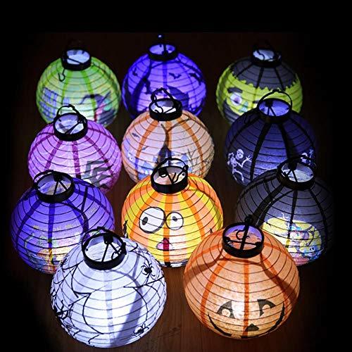 3 stks Halloween Lantaarn Pompoen Licht Gloeiende Decoratie Halloween DIY Hangende Decoraties voor Thuis Grappig