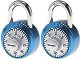 Master Lock 1561DAST - Candado de combinación con cerradura para armarios (2 unidades), varios colores