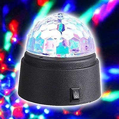 Gadgetzone® Mini Disco Mirror Ball DJ Stage Lights 3W LED RGB Crystal Magic Rotating Glitter Ball Colour Changing Lighting Effect for Xmas Party Wedding. Great Boys Or Girls Christmas Stocking Filler