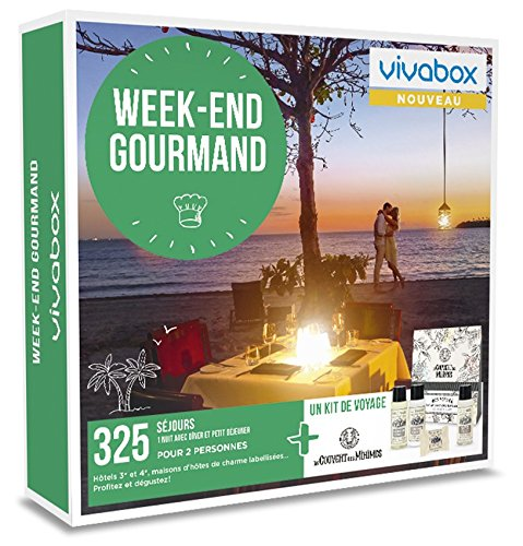 Vivabox - Coffret cadeau couple - WEEK-END GOURMAND- 325 week-ends gourmands. + 1 kit de voyage