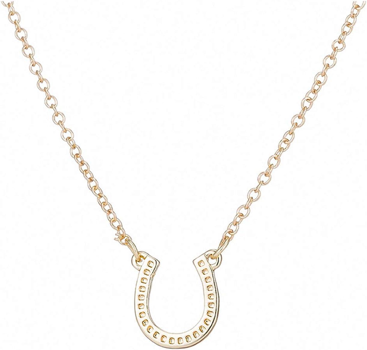 Xileg Lucky Horseshoe Necklace Women Horse Necklace Choker Animal Necklaces & Pendants Paw Necklace Collar