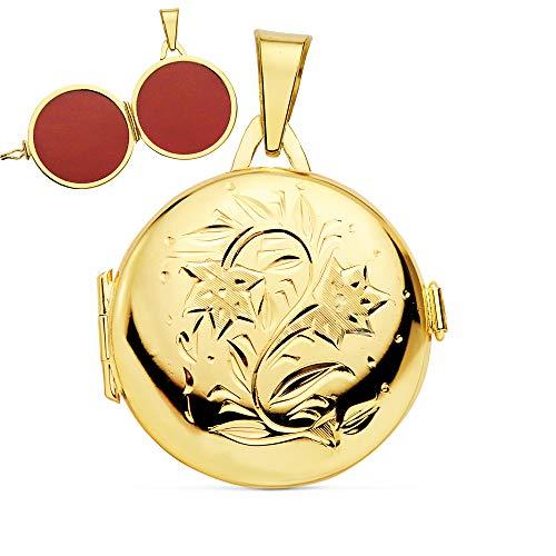 ciondolo da donna portafoto (medaglione) Rotondo in Oro 18carati 23mm