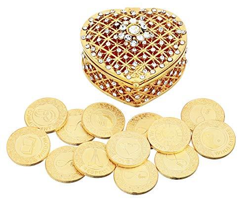 English Gold Wedding Unity Coins Set Arras de Boda...
