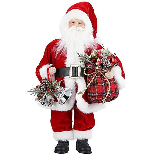 Zogin Natale Babbo Natale in Piedi Babbo Natale Figure per la Decorazione di Natale/Festa/Decorazione Interna per la casa (18 inch+model2)