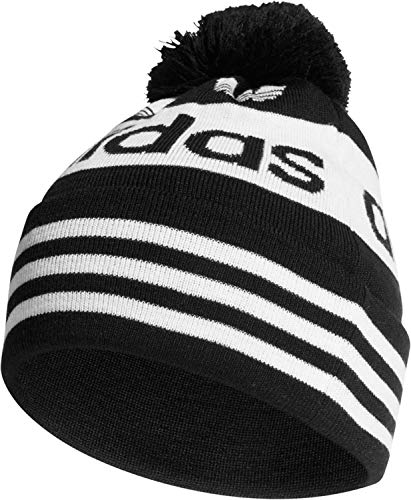 adidas Herren Adicolor Jacquard Pom Beanie, Black, OSFM