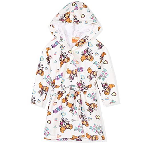 Paw Patrol - Albornoz con capucha para niña (microfibra, secado rápido, 2-8 años), Beige - Skye Pattern, 3-4 Años