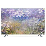 TINGTING Tv Abdeckung TV-Cover Hängen Vertikal LCD-Fernseher Stoffbezug Dekorieren Monitorabdeckungen (Color : Water Lily, Size : 40inch)