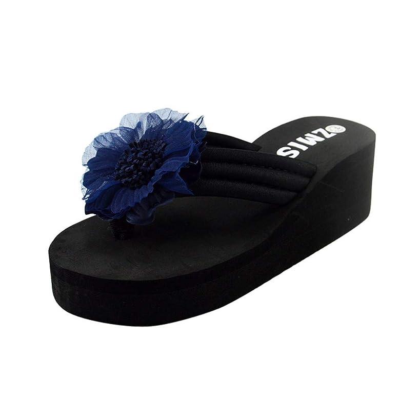 Women Casual Slippers, JOYFEEL ?? Ladies Flowers Clip-Toe T-Bar Sandals Slip-on Indoor & Outdoor Low-Flat Flip Flops