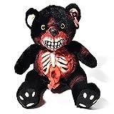 Osito Zombie Original XXL 50cm Osito de Halloween Osito de Terror Osito No-Muerto-El Espeluznante Osito de Peluche para Todos los fanáticos de Las Salpicaduras y el Horror (Intestinos Negro)