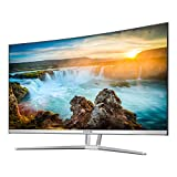 VIOTEK NB32CW 32-Inch LED Curved Professional Monitor, Bezel-Less Samsung VA Panel, 75Hz 1080P Full-HD FreeSync VGA HDMI VESA, Updated Version