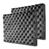 BXI Soundproofing Foam - Closed Cell Foam - Self-adhesive - Great for Noise & Thermal Insulation - 16'' X 12'' X 1.8'' - 2 pack (Black)
