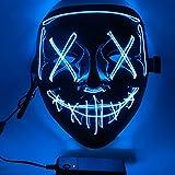 Ptsaying Mascara led Halloween, Halloween Mascaras, Máscaras Halloween de Terror, para Navidad /Halloween /Cosplay...