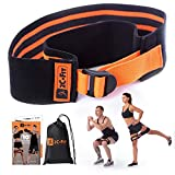 2C.Fit Hip Band Circle Adjustable – Replaces a Set of 3 Fabric Resistance Booty Bands - Adjusts...