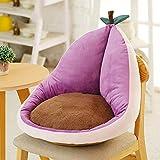 Cojín de asiento para silla de jardín, respaldo suave y cálido, para la oficina, el hogar, el sofá, el dormitorio, muebles de oficina, el estudio, color morado