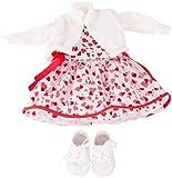 Götz 3403033 Kombination Herzlich - Puppenbekleidung Gr. XL - 4-teiliges Bekleidungs- und...