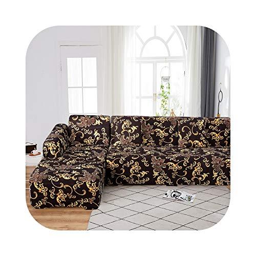 Sofa Covers - Funda de sofá de esquina extensible con diseño separado (forma L, 2 piezas), color 20-3 seat 190-230 cm