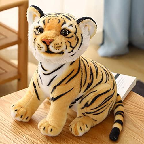 YMQKX 23-33cm Lindo Tigre Blanco de Peluche de Juguete bebé Lindo Tigre Grande muñeco de Peluche Almohada niño cumpleaños 33 cm Amarillo