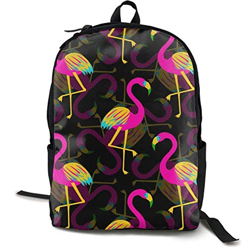 XCNGG Mochila de impresión de fotograma Completo para Adultos Mochila Informal Mochila Mochila Escolar Casual Large College School Daypack - Laptop Outdoor Backpack Colorful Flamingo Style Bac