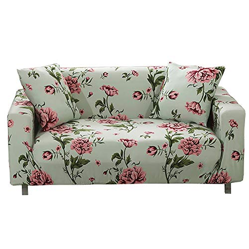 KEANCH Elastischer Sofabezug All Inclusive rutschfeste Sitzbezüge aus Stretch Sofa Loveseat Cover Pet Dog Protector Geeignet for 1 2 3 4-Sitzer-Sofa (Color : C, Size : 4 Seater(235-300cm))