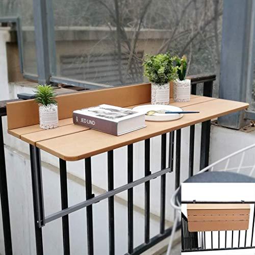 Aan de muur bevestigde vloer table Folding balkon hangen tafel, thuis bar, in hoogte verstelbare tuintafel, tillen vouwen bureau, houtkleur laptop bureau