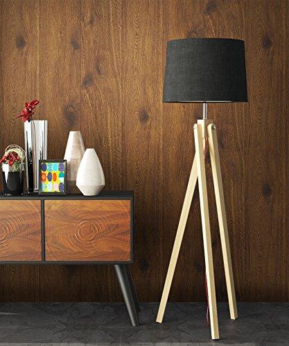 Holz-Muster-Tapete Vlies Braun Edel | schöne edle Tapete im Holzwand-Design | moderne 3D Optik für Wohnzimmer, Schlafzimmer oder Küche inkl. Newroom-Tapezier-Profibroschüre mit super Tipps!