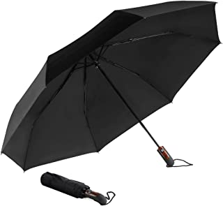 HODGSON Compact Travel Umbrella Windproof Golf Umbrella, Auto Open Close, Lightweight, with Windproof Reinforced Canopy and 10 Durable Flexible Ribs