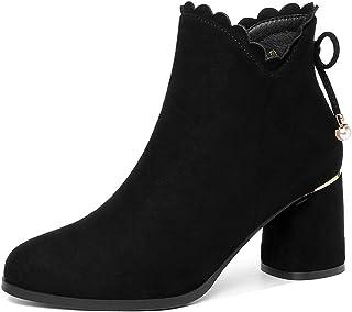 3f5d4d08 Botas para mujer Gruesas con botines Mujer con zapatos femeninos de gran  tamaño Mate versión coreana