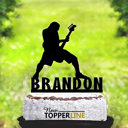 Cheyan Metallica Cake Topper Verjaardag Cake Topper Gitaar Cake Topper Muzikant Cake Topper Elektrische Bassbandgitaar Speler Cake Topper Muziek Topper