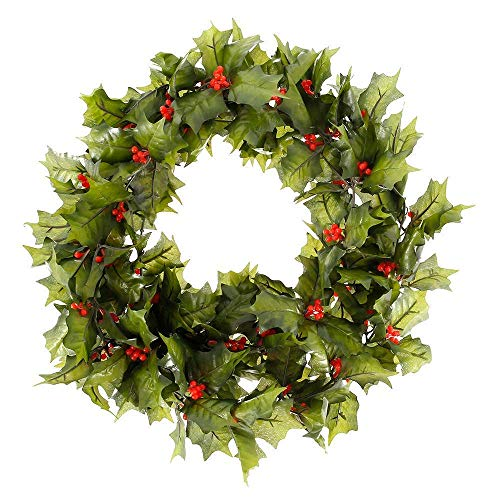 YBINGA 2.2M Red Berry Christmas Garland, Artificial Red Berry Wreath Realistic Christmas Hanging Vine Wreath for Holiday Christmas New Year Craft ,Wreaths & Garlands Artificial Garland