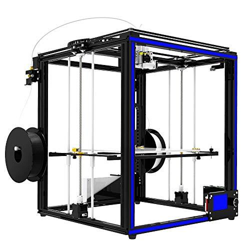 Z.L.FFLZ Imprimante 3D X5ST-2E 3D Printer 2 in 1 Out Capteur de Filament d'extrusion Reprendre Impression Cube Full Metal Square Écran Tactile de 3,5 Pouces