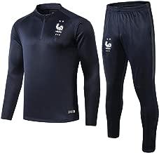 WigColtd Sportbekleidung 18-19 Saison Fußball Trainingsanzug Langarm Trainingsanzug Set Langarm Half Pull Bein Hose
