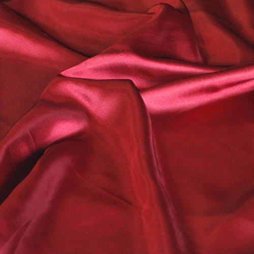 TOLKO 1m Glanz Satin | Modestoff Dekostoff Kostümstoff zum Nähen Dekorieren | Gardinenstoff Vorhangstoff Hochzeitsstoff Weihnachtsstoff Glitzer Satinstoffe/Nähstoffe Meterware 150cm breit (Bordeaux)