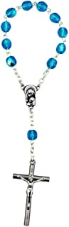 Vatican Imports 4mm Crystal Simple One Decade Rosary | Italian Crystal Glass Beads Christian Jewelry